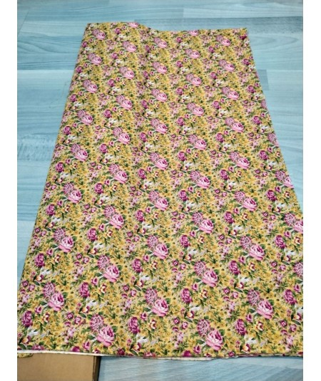 Tela Estampado Floral Amarillo