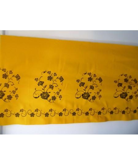 Tejido Bordado Regional Amarillo