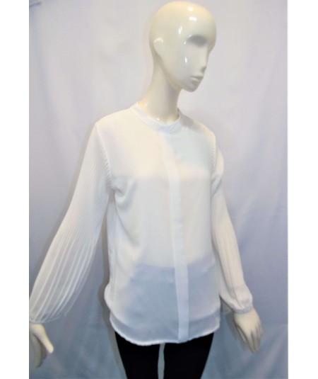 Camisa Con Manga Abullonada Blanca